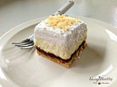 Paleo Coconut Cream Pie - Living Healthy With Chocolate Gluten Free Sweets, Paleo Dessert, Healthy Sweets, Dessert Recipes, Living Healthy With Chocolate, Paleo Chocolate, Healthy Living, Melted Chocolate, Chocolate Cream