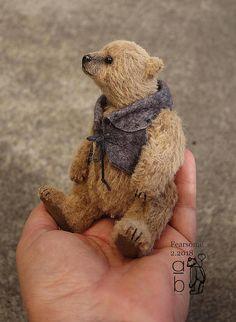 Fearsome OOAK Alpaca Artist Teddy Bear from Aerlinn Bears