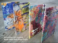 ▶ Gelli Print Accordian Art Journals with Joanna Grant - YouTube. These look like something I could do. I like the idea of using them for quotes.