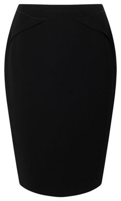 """skirt black"" by nathalieluyten ❤ liked on Polyvore featuring Jacques Vert"