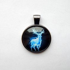Deer pendant, deer keychain, deer necklace,patronus deer pendant, mystical deer, deer jewelry, deer totem, harry potter patronus deer gift