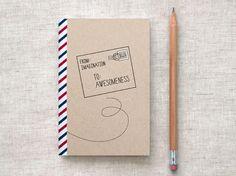 Handmade Sketchbook, Travel Journal - Postal by HappyDappyBits