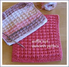 Waffle Knit Dishcloth Pattern