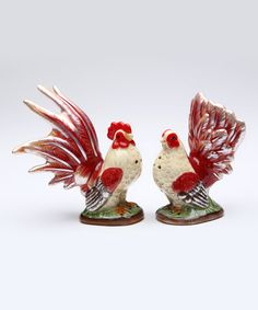 Another great find on #zulily! Mini Blazing Rooster Salt & Pepper Shakers #zulilyfinds