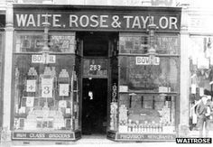 Waitrose 1904 - First shop opened in Acton Hill, London, by Wallace Waite, Arthur Rose and David Taylor