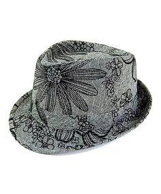 Look what I found on #zulily! Black Floral Fedora #zulilyfinds