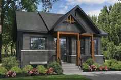 Awesome Plan Maison Canadienne Avec Garage that you must know, You?re in good company if you?re looking for Plan Maison Canadienne Avec Garage Small Rustic House, Rustic House Plans, Modern Rustic Homes, Rustic Home Design, Modern Farmhouse Plans, Cabin Plans, Black House Exterior, Rustic Exterior, House Paint Exterior
