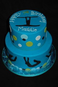 gymnastic cake. Different colors but love the silhouettes.
