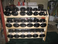 Dumbbell rack forums for Homemade weight rack plans