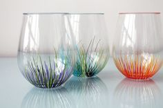 Note: These glasses are not dishwasher safe – simply wash by hand and let dry, and your colorful designs should stay intact.