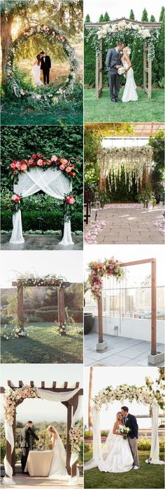 [tps_header] We have found floral wedding arch canopy decoration ideas and you will find shots both with the whole composition with the backdrop and with flower Wedding Ceremony Seating, Wedding Arch Rustic, Wedding Canopy, Outdoor Ceremony, Wedding Arches, Wedding Themes, Wedding Decorations, Tree Decorations, Wedding Ideas