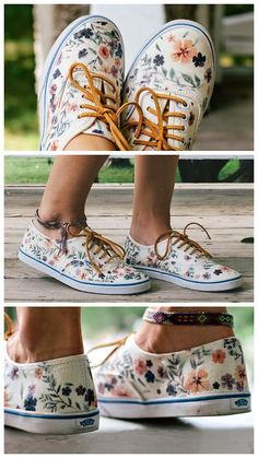 "DIY Floral Sneakers Tutorial from Always Rooney. I've... - ""True Blue Me & You:DIYs for Creative People"""