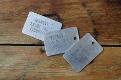 Metal Vermont Labor & Industry Tag Industrial by #tippleandsnack  #etsy #teamvam