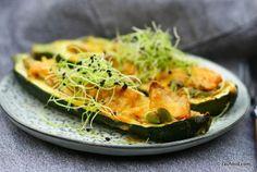 Ovnbagte squashbåde med kylling og asparges | Rav Food | Bloglovin'