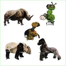 3D Wind Up Puzzle 5 Piece Gift Pack - Animal Puzzles - Green Ant Toys www.greenanttoys.com.au #toys #xmas2016