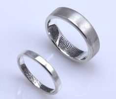 Fingerprint wedding set. That's what I call personalized!
