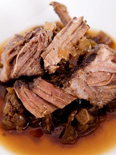 Slow Cooker Coffee Pot Roast.Quite unique and delicious recipe.Beef with soy sauce and strong coffee cooked in slow cooker.
