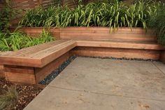 Could drop raised bed a bit lower than bench. Possible make some story beneath benches?