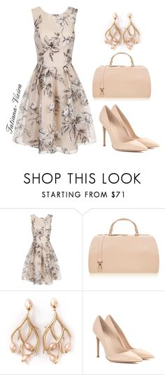 """""""21"""" by tatiana-vieira ❤ liked on Polyvore featuring Chi Chi, Furla, Shaun Leane and Gianvito Rossi"""