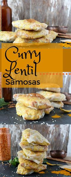 Healthy, vegan samosas that are filled with lentils and vegetables and the perfect level of spicy curry flavour.