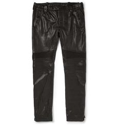 Belstaff | Westmore Slim-Fit Leather Biker Trousers #belstaff #biker #trousers