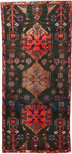 Black 4' 1 x 9' 0 Shiraz Rug   Persian Rugs   eSaleRugs