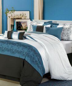 Blue Pacific Comforter Set by  #zulily #zulilyfinds