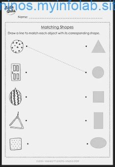Pre-K Math Shapes Worksheets. Shapes worksheets for pre-k level with high-quality images. Shape Worksheets For Preschool, Nursery Worksheets, Shapes Worksheet Kindergarten, Shapes Worksheets, Preschool Writing, Preschool Learning Activities, Kindergarten Math Worksheets, Preschool Forms, Matching Worksheets