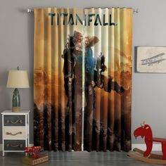 3D Printed Titanfall Style Custom Living Room Curtains – Westbedding 3d Curtains, Cute Curtains, Beige Curtains, Elegant Curtains, Cheap Curtains, Drop Cloth Curtains, Printed Curtains, Blackout Curtains, Bedroom Curtains