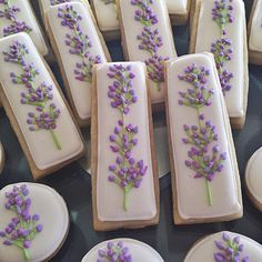 #lavender #tea #party #cookies #white #purple #sugarcookies #decoratedcookies #baking #flowers