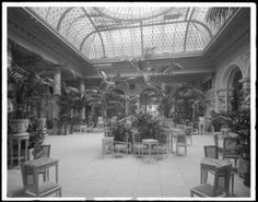 "The Palm Court, which was then dubbed ""the Tearoom"", ca. 1907 - The Plaza Hotel, New York, NY"