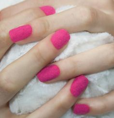 Hot Pink Velvet Fur Effect Nails from MUA Cosmetics.
