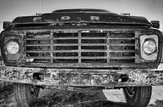 """""""Look Into My Eyes"""" An old Ford F600. Beatup, rusted and beautiful."""