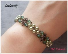 (5) Name: 'Jewelry : Green Leaves Netted Bracelet (BB173)
