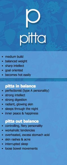 pitta dosha in and out of balance