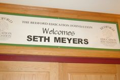 Seth Meyers Brings Good Humor to Bedford - Schools - Bedford, NH Patch Bedford School, Weekend Update, The Bedford, Seth Meyers, Good Humor, Schools, Foundation, Patches, Bring It On