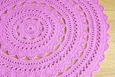 Tapetes redondo de crochê ~ Ki Decoração