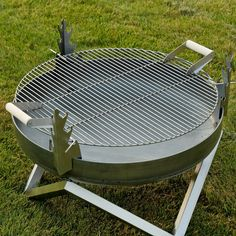 With the Curonian Stainless Steel Grill Grate , the open flames in your fire pit aren't just for admiring - they're for cooking,. Fire Pit Grate, Steel Fire Pit, Diy Fire Pit, Fire Pits, Outdoor Food, Outdoor Decor, Outdoor Living, Outdoor Spaces, Fire Pit Cooking