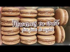 Macarons cu nucă - FĂRĂ FĂINĂ DE MIGDALE | Raluca Gheorghe - YouTube Macarons, Striped Cake, Food Cakes, Cake Recipes, Crafts For Kids, Deserts, Food And Drink, Vegetarian, Cookies