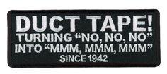 Velcro Duct Tape Since 1942 Funny Motorcycle Biker Vest Patch