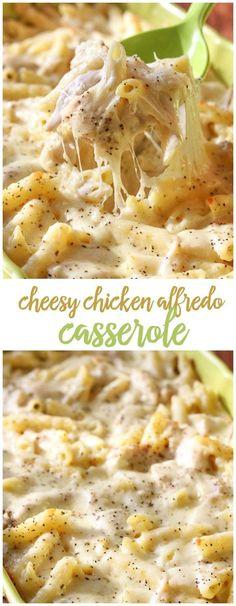 Cheesy Chicken Alfredo casserole