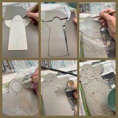 Making clay angels today! Making clay angels today! Ceramic Pinch Pots, Ceramic Clay, Ceramic Techniques, Pottery Techniques, Clay Art Projects, Clay Crafts, Clay Angel, Pottery Angels, Christmas Clay