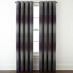 jcpenney.com | Studio™ Dakota Two-Tone Lined Grommet-Top Curtain Panel
