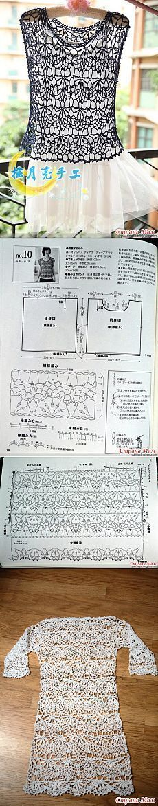 Blusa Crochet - Diagrama