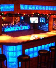 Home Bar ☆ LED Glass Blocks■