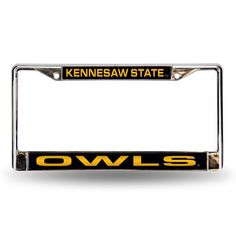 Kennesaw State Owls NCAA Laser Chrome License Plate Frame
