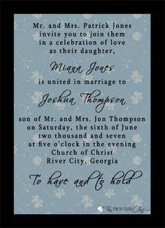 wedding invitation wording for elopement