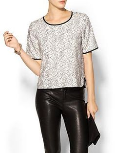 Pretty JOA Graphic Lace Tee | Piperlime