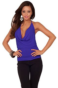 Cropped Brazen Halter Draped Cowl Neck Design Backless Casual Sexy Party Top Hot from Hollywood http://www.amazon.com/dp/B00EYPU3FO/ref=cm_sw_r_pi_dp_BSnWvb0FFKQN4