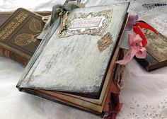 Unique Wedding Guest Book  Shabby chic by youruniquescrapbook, £89.99